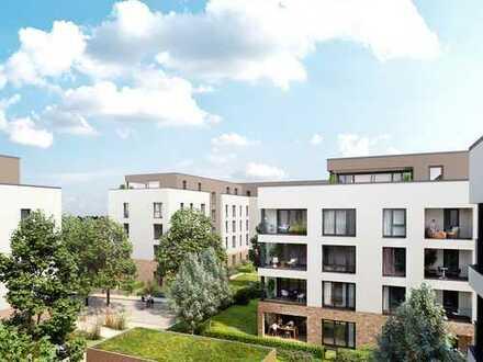 Durchdacht geplante 2-Zimmer-Wohnung mit West-Terrasse und Gartenanteil