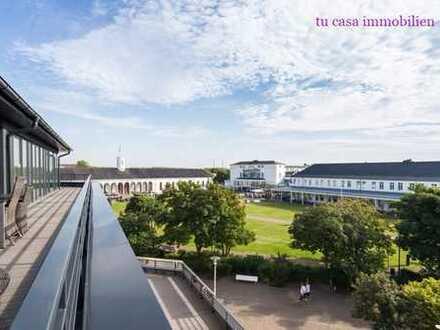 PENTHOUSE AM KURPLATZ IN DER VIP LOUNGE mit 97 Qm Wohnfläche plus 93 QM Dachterrasse!