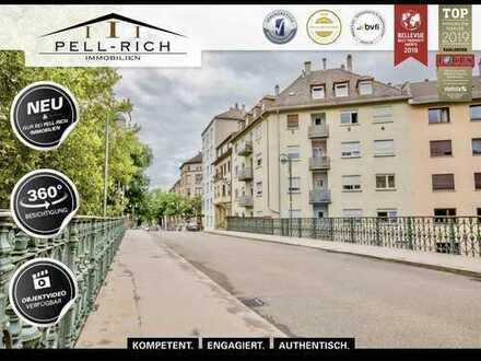 BALKONLIEBLING: komplett sanierte 3-Zi. EG-Wohnung mit Balkon an Hirschbrücke