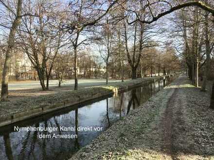 Top sanierte luxuriöse Gartenwohnung in traumhafter Lage direkt am Nymphenburger Kanal