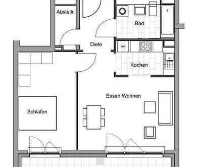 ERSTBEZUG-Exklusive 2-Zi-WHG mit riesiger Loggia, EBK, Fußbodenhz