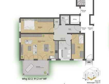 *Provisionsfrei* Erdgeschosswohnung mit eigenem Garten