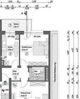 Vermietete Etagenwohnung (3.OG R) auf 54,88m², mit Balkon in Essen - Holsterhausen - Neugründung WEG