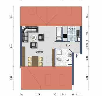 Kleines Domizil - Attraktive 1 Zimmer Wohnung im Herzen von Neckartenzlingen