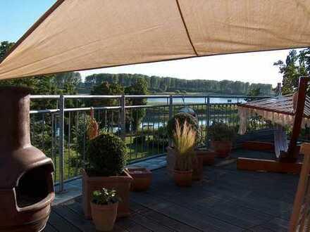 Exklusive Penthousewohnung mit direktem Rheinblick in Hitdorf bei Leverkusen!