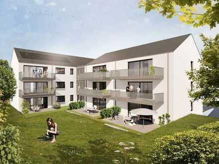Neubauprojekt: hochwertige Eigentumswohnung mit großer Loggia und Garten