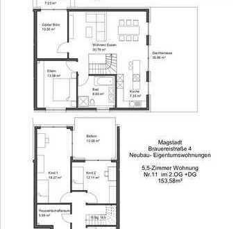 5,5 Zimmer Neubau-Maisonettewohnung in Magstadt !! Provisionsfrei!!