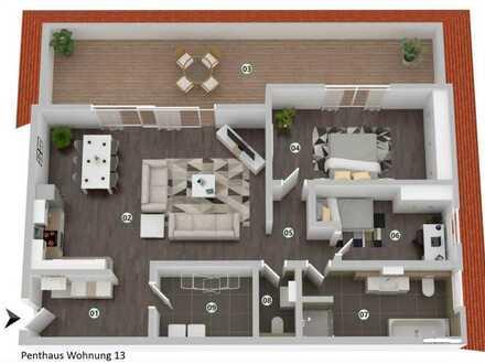 Erstbezug: Penthouse-Wohnung in Süd-Ausrichtung mit riesiger Dachterasse in Stuhr-Seckenhausen