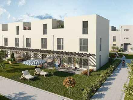 Gehobenes Reihenhaus auf 3 Stockwerken mit Garten, Dachterasse, Carport