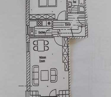 Gepflegte 2,5-Zimmer-Dachgeschosswohnung mit Balkon und Einbauküche in Vohenstrauß