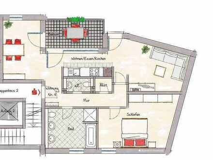 2 ZKB, ca. 74,27 m² im 1. OG Neubauprojekt mitten in der Nibelungenstadt