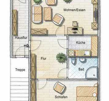 barrierefreie Wohnung mit 70 m² - geeignet für Rollstuhlfahrer