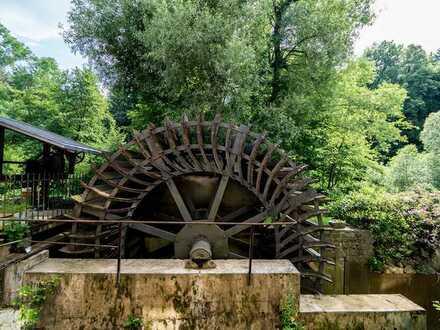 Einfach besonders wohnen: Ehemalige Bronzemühle mit Privatinsel auf großem Grundstück!