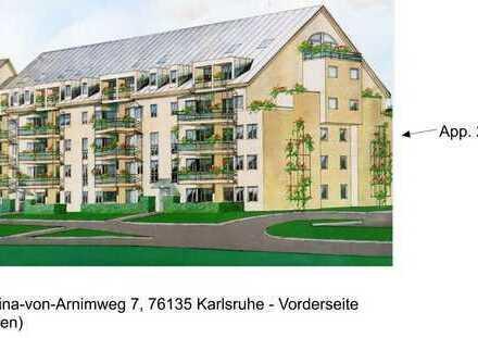 gepflegte 1-Zimmer-Wohnung mit Balkon und Einbauküche in Karlsruhe