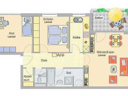 Stadtnah wohnen! 3-Zimmer-Wohnung - ideal für Ruheständler, Paare oder kleine Familien