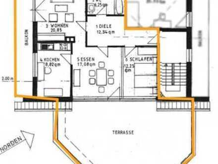 Besondere und modernisierte 4-Zimmer-Wohnung mit herrlicher Dachterrasse in Dasing