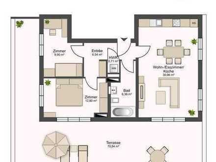 Neubau Erstbezug! - Exklusives Penthouse inkl. 70m² Dachterrasse in Südlage