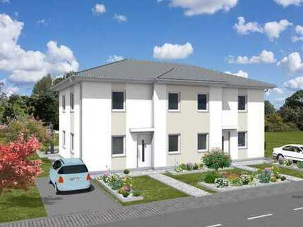 Neubau Doppelhaus in Hönow - als Stadtvilla.