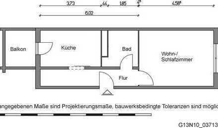 Ideal für Singles: 1-Zimmer-Wohnung mit separater Küche und Balkon