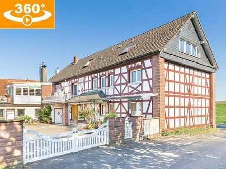 Moderne 4-ZKB (102 m² Wfl.) in Haus mit charmanter Fachwerkoptik, idyllisch gelegen in Hammersbach