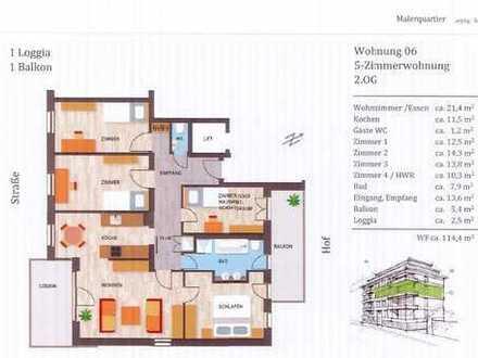 Schicke 5-Raumwohnung mit 2 Balkonen in Leipzig-Schleußig