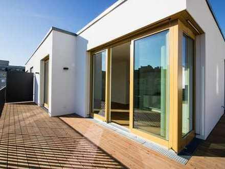 Dachgeschosswohnung mit 3-Zimmer mit Kamin + 180° Terrasse