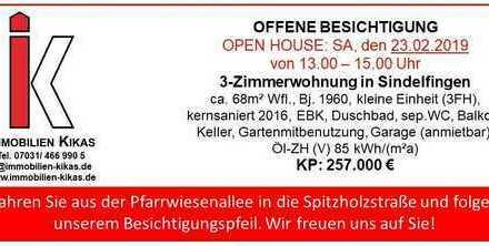 - OFFENE BESICHTIGUNG - Schicke 3-Zimmerwohnung in Sindelfingen