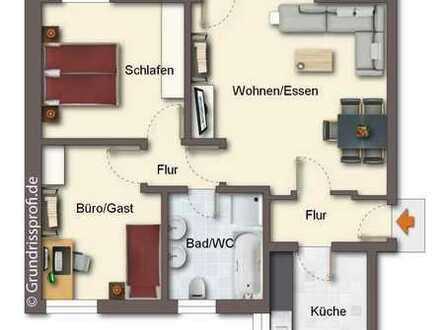 Obergeschosswohnung mit Balkon im Zentrum von Haren, www.deWeerdt.de