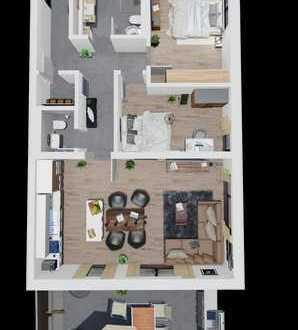 Moderne 3 Zimmer Wohnung mit Gäste WC