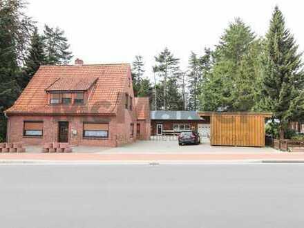 Gewerbe und Wohnen vereint - Produktionshalle und Wohnhaus auf großem Grundstück inkl. Bauland