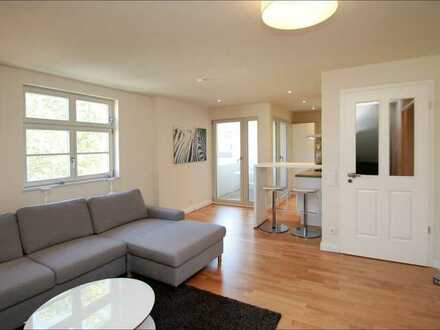 Einfach einziehen! Voll möblierte 3-Zimmer Wohnung Wohlfühlwohnung mit Loggia!