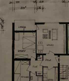 Helle 3-Zimmer Wohnung mit Südbalkon, Nähe Krankenhaus, Weg zum Poethen