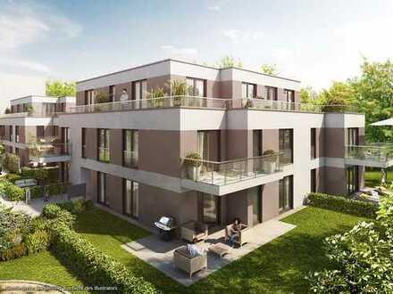 Sonnige Gartenwohnung mit 2 Zimmern und großem Wohn-Ess-Kochbereich