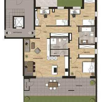 Neubauvorhaben 4 - Zimmer Wohnung mit Terrasse und Gartenanteil