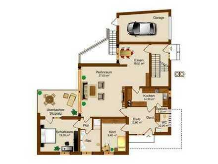 3-Zimmer Erdgeschosswohnung in Buchschlag! Zusätzliche Option einer Anmietung von Büro-/Hobbyräumen