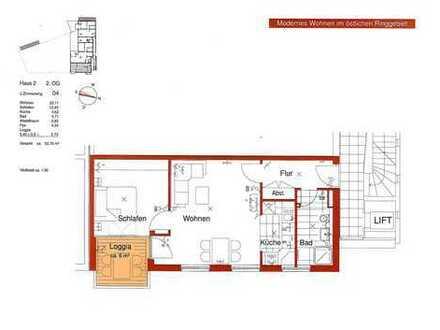 Moderne Neubauwohnung mit Einbauküche