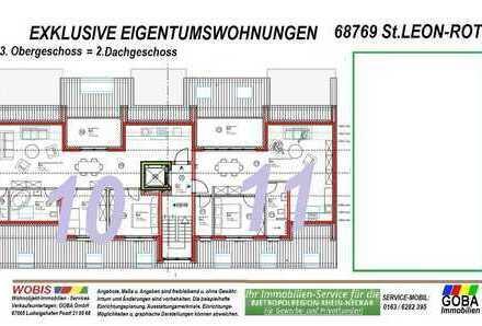 Modern Naturnah nahe SAP - barrierefrei 2,0 ZKB Balkon 69 m² Neubau-ETW KfW55 Effizienz
