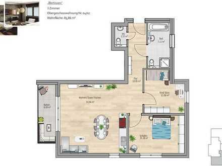 Erstbezug: exklusive 3-Zimmer-Wohnung mit Balkon in Illertissen