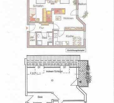 Vollständig renovierte 1,5-Zimmer-DG-Wohnung mit Balkon in Germersheim
