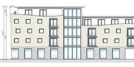 NEUBAU-Projekt - Gewerberäume im EG an der Hauptstr. - Grundriss noch freie Teilung möglich