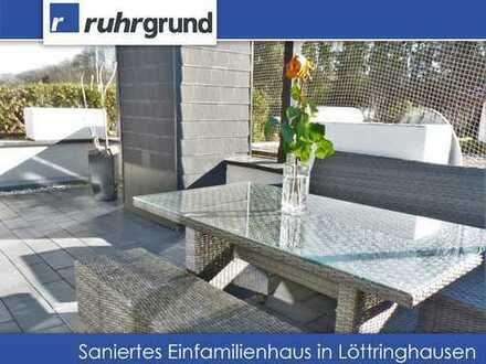 Modernes Einfamilienhaus mit Kamin und Dachterrasse in Löttringhausen!