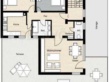 Renovierte 3-Zimmer Wohnung mit Doppelgarage, Stellplatz, voller Gartennutzung und EBK