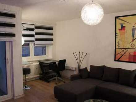 Möblierte, exclusive 2-Zimmer-Wohnung mit Balkon und EBK in Eißendorf, Hamburg