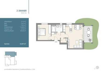 2-Zimmer Erdgeschosswohnung mit wunderschönem Garten (501)