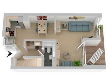 Maisonette-Wohnung mit eigenem Gartenanteil