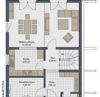 Grundstück im Grünen - Glashütten - Planbar mit einer DDH (Version mit Keller)
