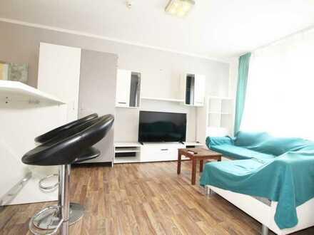 Voll möbliertes und bestücktes (Geschirr, TV, etc.) 1 Zimmer 25qm Wohnung in Mannheim zu vermieten