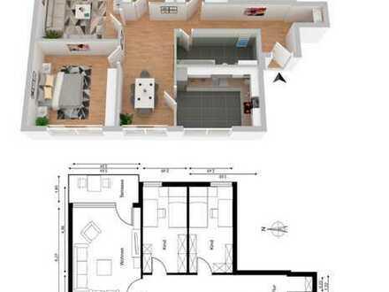 Gepflegte 4-Zimmer-Wohnung mit Balkon und Einbauküche in Pfingstweide