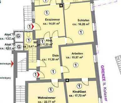 großzügige, frei werdende 4-Zimmer-Eigentumswohnung im Herzen von Durlach