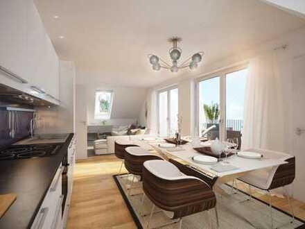 Purer Wohngenuss für Ihre Familie! Helle 3-Zimmer-Wohnung mit sonniger Dachterrasse und 2 Bädern
